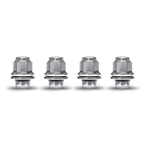 White Knight 5304 Chrome 12-20 Medium Mag Lug Nut with Washer 4 Pack