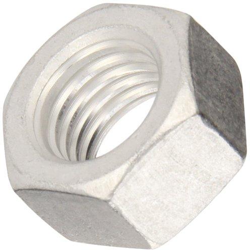 Aluminum Machine Screw Hex Nut Plain Finish ASME B1863 14-20 Thread Size 316 Width Across Flats 716 Thick Pack of 100
