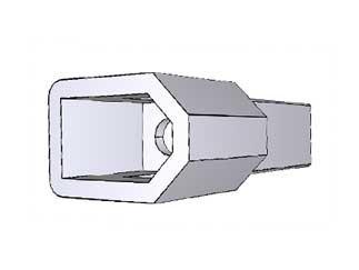 TE CONNECTIVITY 770340-1 2 Position Crimp Terminal Detent Lock Free Hanging Plug Housing - 100 items
