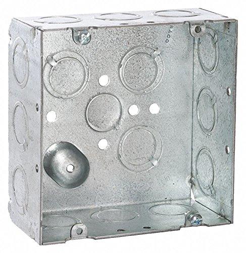 RACO Electrical Box Steel 2-18 Nominal Depth 4-1116 Nominal Width 4-1116 Nominal Length