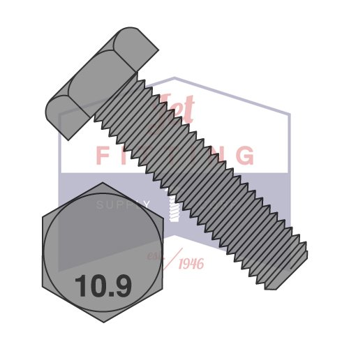 M12X30 Hex Cap Screws  Metric Grade 109  Plain  Full Thread  DIN93 QUANTITY 300