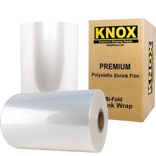 Knox Brand - 14 75 Gauge Polyolefin Shrink Film Heat Wrap POF Centerfold 3500 feet