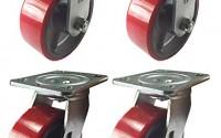 4-Heavy-Duty-Caster-Set-4-5-6-Polyurethane-on-Cast-Iron-Wheels-No-Mark-Red-5-2R-2S-10.jpg